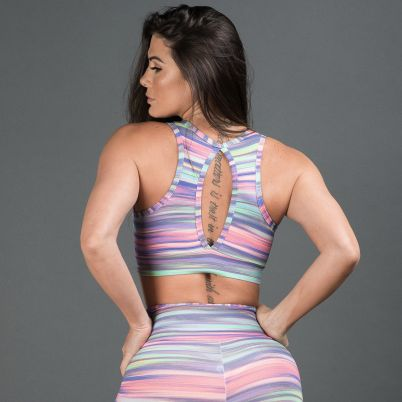 Top Fitness Estampado Line Colors