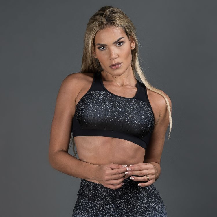 Top Fitness Poliamida Jacquard Degrade Royal