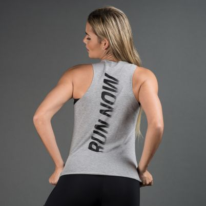 Camiseta Fitness Mescla Run Now
