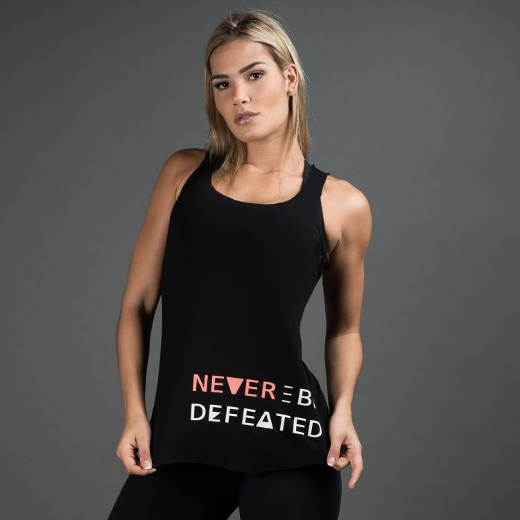 Camiseta Fitness Never Be Defeated