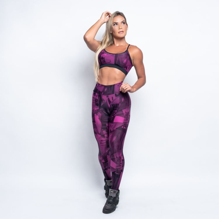 Calça Legging Trilobal Estampado Running