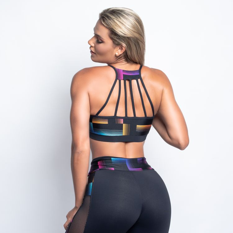 Top Fitness Trilobal Estampado Square