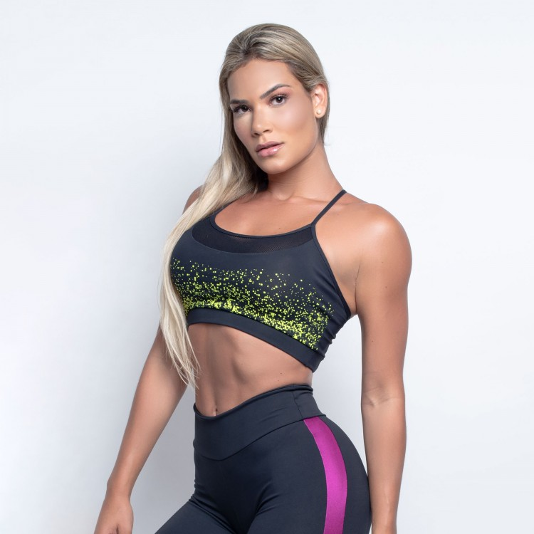 Top Fitness Neon com Bojo Removível