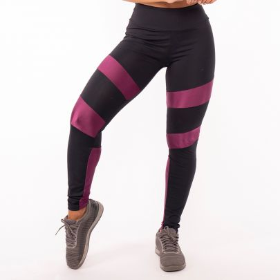 Calça Legging Poliamida Black with Purple