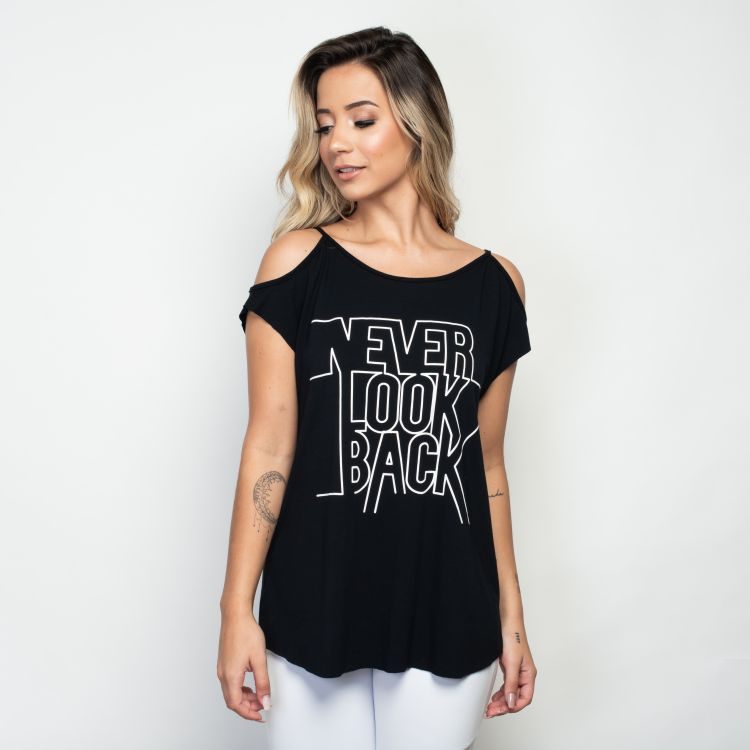 Camisa Fitness Never Look Back