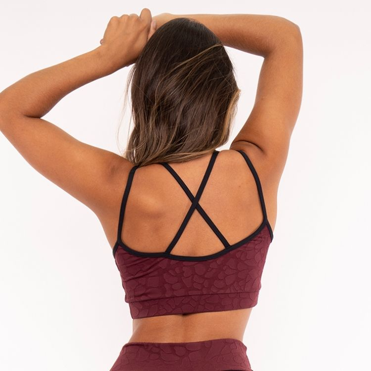 Top Fitness Animal Print Marsala