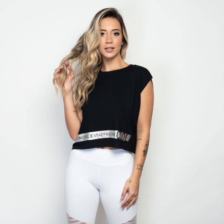 Cropped Fitness Black Cool