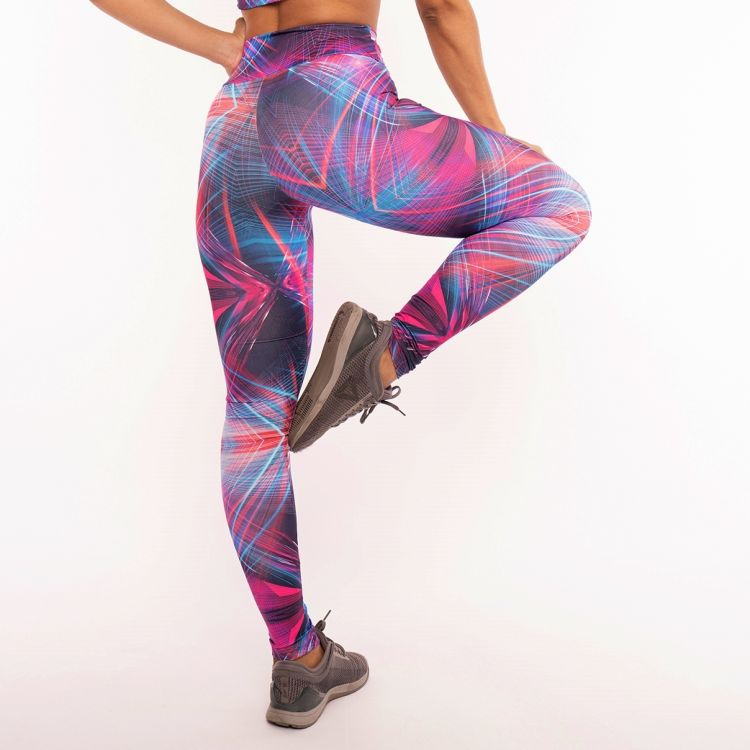 Calça Legging Estampada Colorful Rose