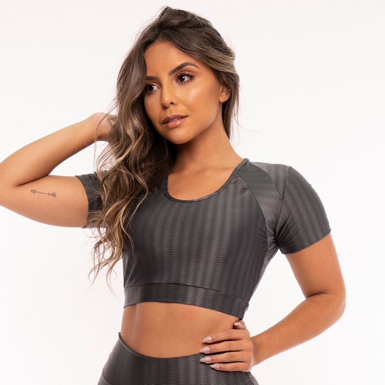 Top Cropped Fitness New Zig Chumbo