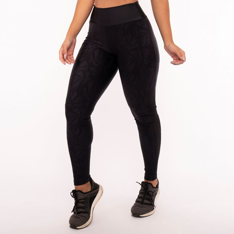 Calça Legging Poliamida Black Sheet