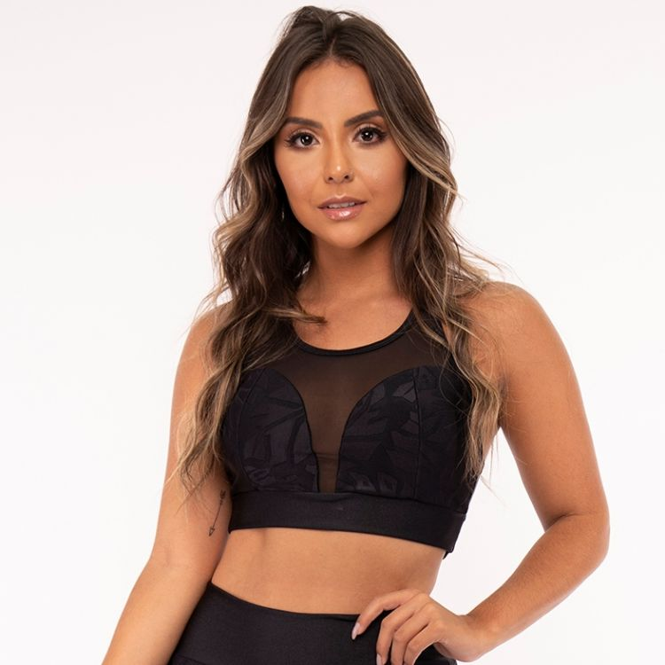 Top Fitness Black Sheet com tule