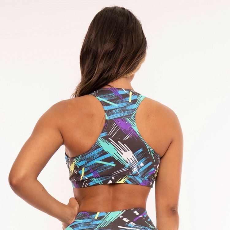 Top Fitness Poliamida Estampada Colors Stains