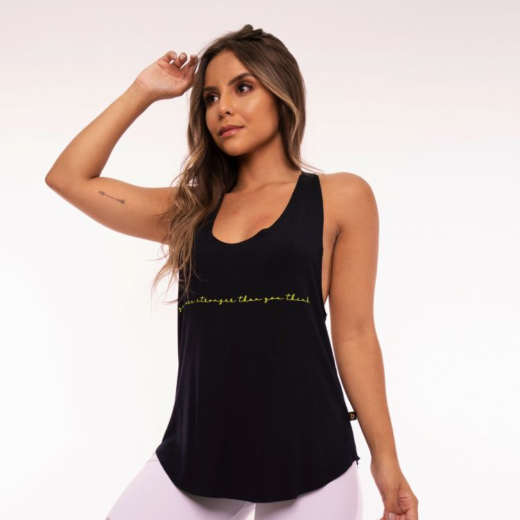 Camiseta Fitness Elástico You Are Stronger Than You Think