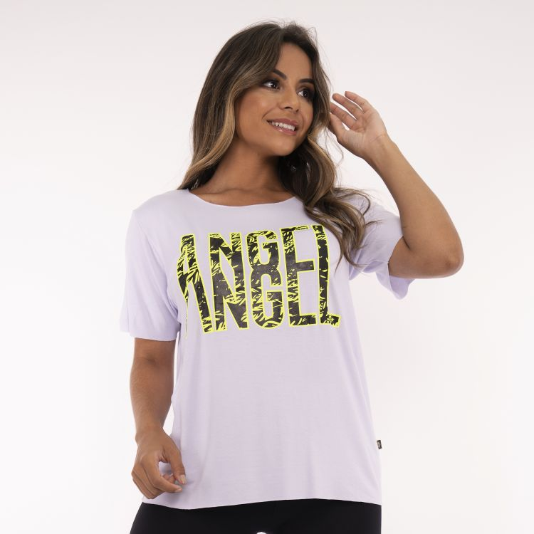 Camisa Fitness Branca Angel