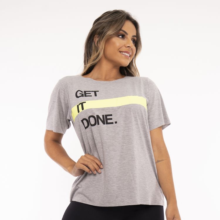 Camisa Fitness Get It Done Mescla
