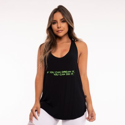 Camiseta Fitness Elástico If You Can Dream It