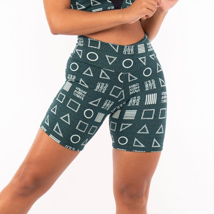 Short Fitness Jacquard Game Verde