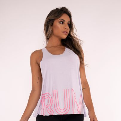 Camiseta Fitness Branca Run