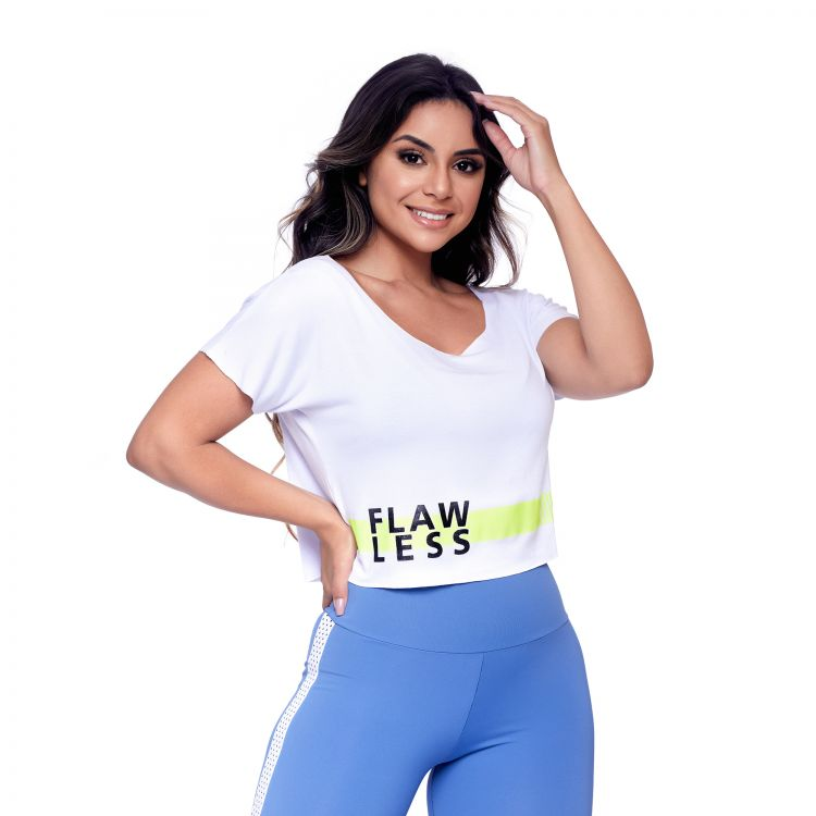Cropped Fitness Branco Flaw Less