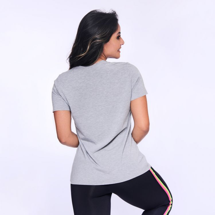 Camisa Fitness Mescla Relax Now Here
