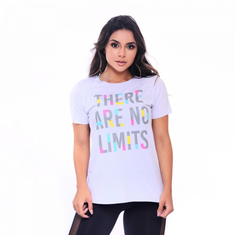 Camisa Fitness Branca There Are No Limits