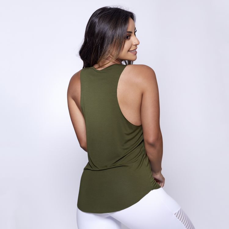 Camiseta Fitness Verde Musgo UP
